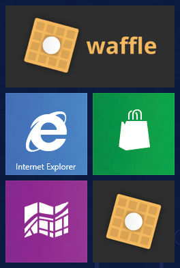 The square and rectangular icons as Windows tiles