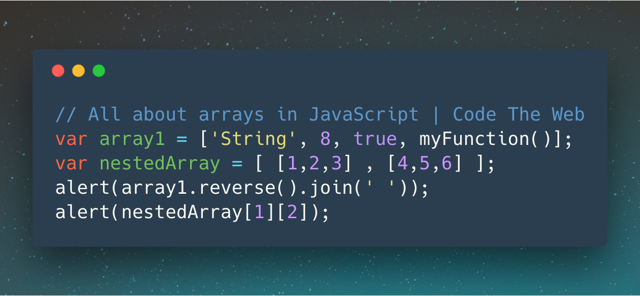 The complete guide to JavaScript arrays – Code The Web